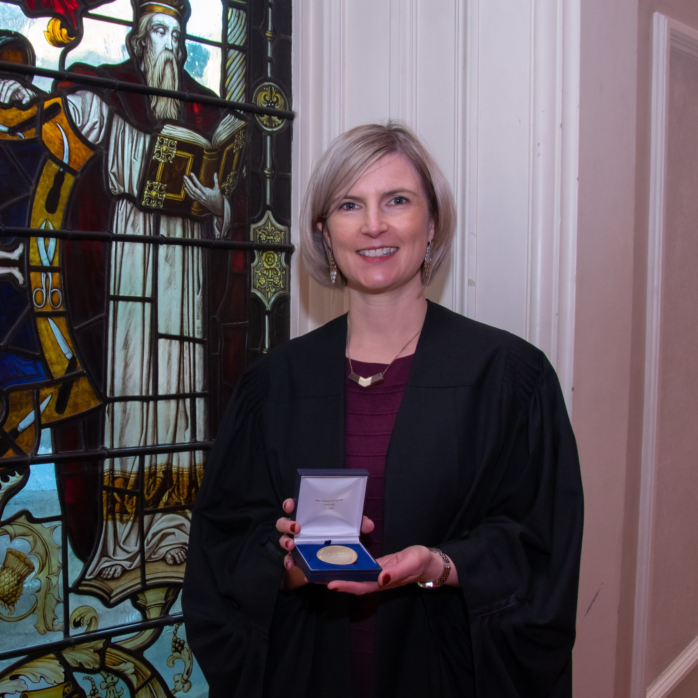 Gillian Bruce awarded medal as part of masters
